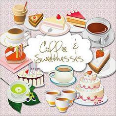 coffee, tea & sweets doodles