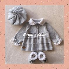 Knitted Baby Cardigan, Baby Knitting Patterns, Baby Dress, Projects To Try, Creations, Winter Hats, Crochet, Dresses, Instagram