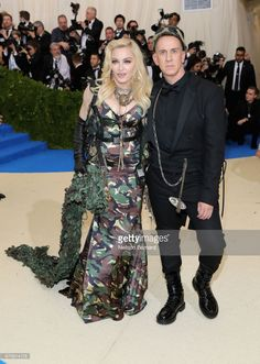 Madonna (L) and Jeremy Scott attend the 'Rei Kawakubo/Comme des Garcons: Art Of The In-Between' Costume Institute Gala at Metropolitan Museum of Art on May 1, 2017 in New York City.  (Photo by Neilson Barnard/Getty Images)
