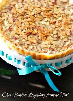 Chez Panisse Almond Tart so EASY and You will be a star when you make this shortbread crust.