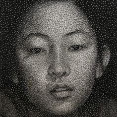 Les portraits filaires de Kumi Yamashita Nails ! / only nails and one black thread !