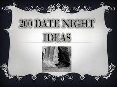 Sarah with an H: 200 Date Night Ideas