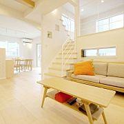 Lounge,ナチュラル,ソファ,アクセントウォール,スキップフロア,木住販売に関連する他の写真