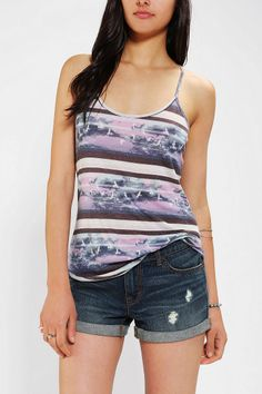 BDG Donna Printed Racerback Cami #UrbanOutfitters
