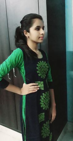 try simple outfit of green color on mehendi ceremony. Beautiful Girl Photo, Cute Girl Photo, Beautiful Girl Indian, Beautiful Indian Actress, Girls Dp For Whatsapp, Indian Girl Bikini, Little Girl Models, Indian Girls Images, Indian Actress Photos