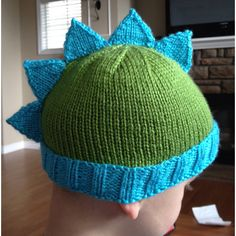 Dino hat I made for a friend's son