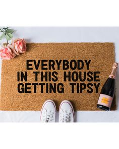 Spooktacular Savings on Tipsy Doormat Funny Doormat Welcome Door Mat . Front Door Mats, Front Door Decor, Diy Door Mats, Cute Door Mats, Entryway Decor, Welcome Door Mats, Welcome To My House, Funny Welcome Signs, Funny Door Signs