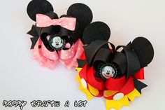 Mickey Mouse hairbow tutorial #hairbows #hairbow #bows #bowtutorial #tutorial