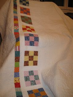 Interesting treatment for quilt back..... Or border