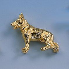 Brosche Schäferhund