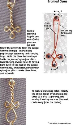 Braided Gems   --Beaded Jewelry made with WigJig jewelry making tools, beads, wire and jewelry supplies.
