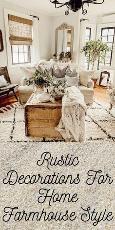 Rustic Decorations For Home Ideas Log Cabins Rustic Decorations For Home Ideas Office Farmhouse Style Kitchen, Pendant Light Fixtures, Log Cabins, Joanna Gaines, Home Living Room, Rustic Decor, Room Decor, Decorations, Interiors