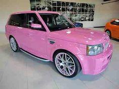 pink, car, and range rover kép Range Rover Evoque 2013, Range Rover Sport, Fancy Cars, Cute Cars, Cadillac, Range Rover Interior, Pink Range Rovers, Girly Car, Jaguar Xf