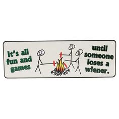 """Tin Sign - It's All Fun And Games, Size 10 1-2"""" x 3 1-2"""""""