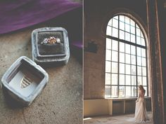 industrial romantic fall wedding inspiration - photo by Christina Block Photography http://ruffledblog.com/industrial-romantic-fall-wedding-inspiration