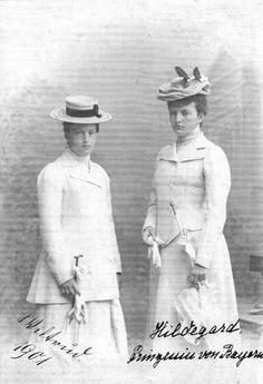 1901 Hildegard und Wiltrud Prinzessinen von Bayern detint From geschichte-steben.de:themen:persoenlichkeiten:prinzessinen-hildegard-u-wiltrud