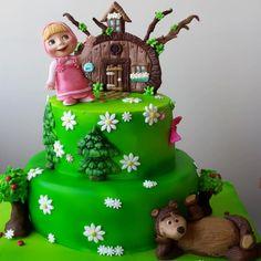 masha and the bear - Cake by tatlibirseyler