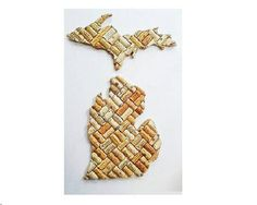 Check out this item in my Etsy shop https://www.etsy.com/listing/232230756/michigan-wine-cork-wall-decor-wine-corks