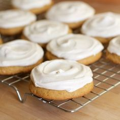 Soft Pumpkin Cookies with Cinnamon Cream Cheese Frosting.