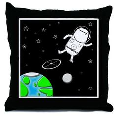 Space Walk Throw Pillow> Home & Travel> Big Phil