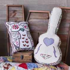 """junk gypsy on Instagram: """"kinda really diggin on our new #junkgypsy4pbteen pillow collection!! this owl-shaped & guitar-shaped pillows both have sweet hidden messages and the owl is inspired by one of amie's long ago doodles! #behooyoube #dancetoyourownbeat #pbtgonecountry #decor #throwpillows #pillowaddiction"""""""