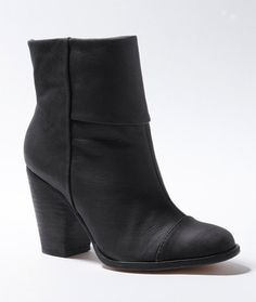 Signature Leather Ankle Boot: Footwear | Free Shipping at L.L.Bean  Can't decide between these and the ones made by Toms... My black boots are about to die out and I need a new pair..hmmm