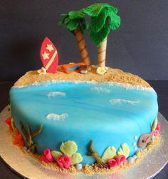 Melkein voi kuulla aaltojen loiskeen ja aistia lempeän tuulen ihollaan, kun tätä kakkua katselee. #summercake