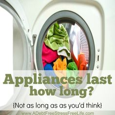 how long is the life of major appliances
