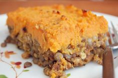 Vegetarian Shepherd's Pie with Lentils, Mushrooms, and Sweet Potato | The Apron Archives #vegetarian