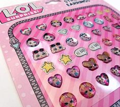 LOL SURPRISE DOLLS STICK-ON EARRINGS BIRTHDAY PARTY FAVORS L.O.L Lol lol