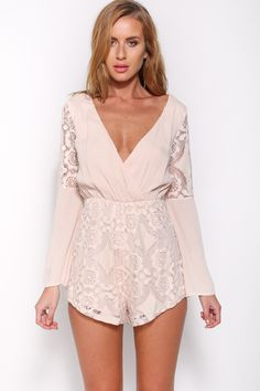 Utopia Playsuit, Nude, $59 + Free express shipping http://www.hellomollyfashion.com/utopia-playsuit-nude.html