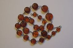 """Vintage Natural Baltic Cherry Amber Beads Necklace 21"""""""