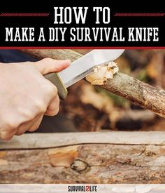 Dirt Cheap DIY Survival Knife | How To Make Weapons by Survival Life at http://survivallife.com/2015/07/27/dirt-cheap-diy-survival-knife-by-survival-life/