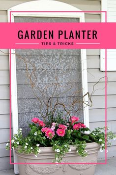 Get great ideas for your outdoor flower pots this spring. Beautiful garden planters are easier than you think!