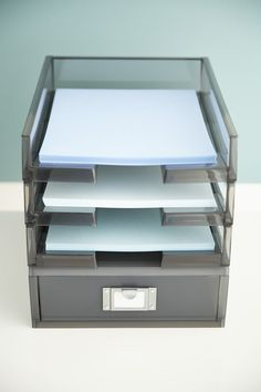 "Our Like-it® Portrait Paper Drawer provides concealed, yet easily accessible, storage of 8-1/2"" x 11"" paper and other office essentials. Make the most of your desktop space by stacking several. Take further advantage of your vertical storage space by stacking a Portrait Paper Tray and/or a Medium Desktop Station on top to create a customized office organization solution!"