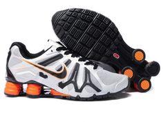 Men's Nike Shox Turbo+ 13 - White/Black/Orange - <3 Nike Running Shoes Store Offers Cheap Nike Free Runs, Nike Air Max, Nike Frees, Nike Free Run 2, Nike Free Run3 For Women, Men And Kids In Nike Free Run   Store.Welcome to Choose your favorite one at www.freerun2u.com.