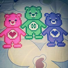 Care Bears hama beads by ddralson on deviantart