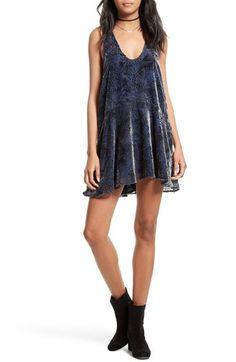 FREE PEOPLE Ellie Burnout Velvet Minidress. #freepeople #cloth #