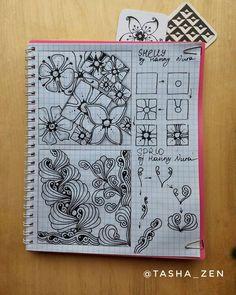 У меня новая страничка и новые очаровательные танглы от @zenjoy_hanny_nura Как они мне нравятся! Особенно, нижний в вариации тангла dewd.…