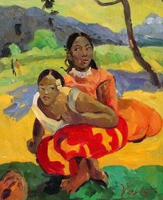 PAUL GAUGUIN (1848-1903) – One of the most fascinating figures in the history of painting, his works moved from Impressionism (soon abandoned) to a colorful and vigorous symbolism, as can be seen in his 'Polynesian paintings'. Matisse and Fauvism could not be understood without the works of Paul Gauguin.