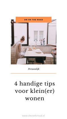 5 handige tips voor klein(er) wonen Tiny House, Dutch, Happiness, Dutch People, Bonheur, Tiny Houses, Dutch Language, Being Happy, Happy