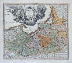 PREUSSEN Borussia Ostpreussen Westpreussen Kupferstich Kauffer Weigel um 1730