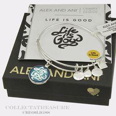 Authentic-Alex-and-Ani-Life-is-Good-Shiny-Silver-Bangle-CBD