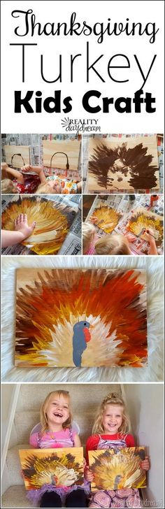 Make a finger paint turkey with the littles this Thanksgiving season! {Reality Daydream}