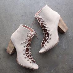 faux suede peep toe bootie (women)