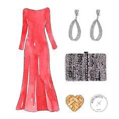 Goodo objects for @skipuruguay - El vestido rojo de Paula Cancio no pasó desapercibido en los #martinfierro2017 @paulacancio #meencantaloquetenéspuesto #redcarpetstyle #goodobjects #watercolor...