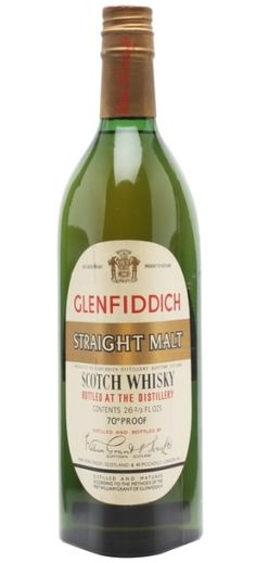 Official Glenfiddich Straight Malt from 60s.
