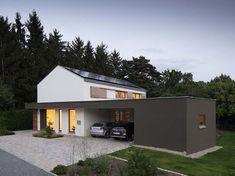 Dans l'idée juxtaposer un carport et un garage fermé côte à côte de l'ancien garage