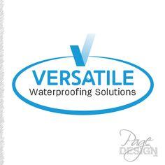 Versatile Waterproofing Solutions logo, Tauranga, NZ Page Design, Graphic Design, Logos, Logo, Visual Communication