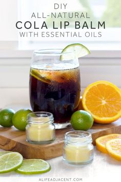 Did you know that a special combination of citrus essential oils smells exactly like cola? Learn how to make DIY cola lip balm using only natural ingredients. #essentialoils #essentialoil #diybeauty #giftideas #lipbalm #naturalbeauty #diygifts #greenbeauty